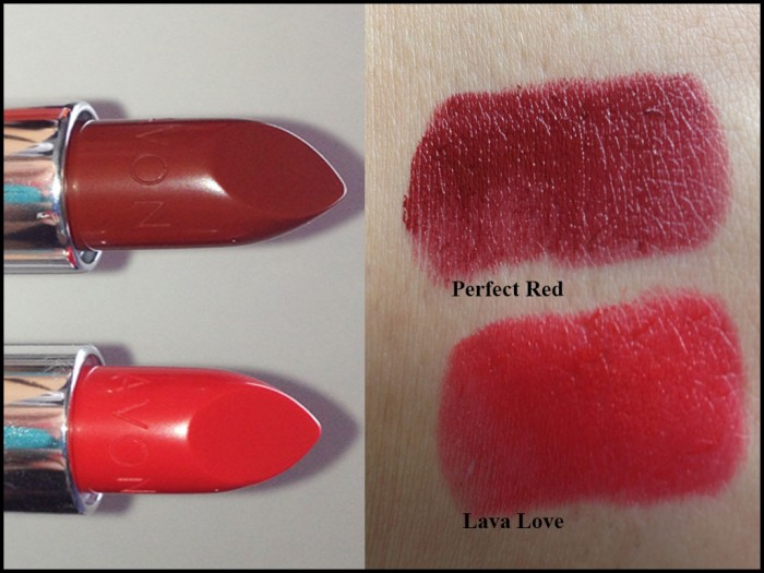 Avon lipsticks swatch
