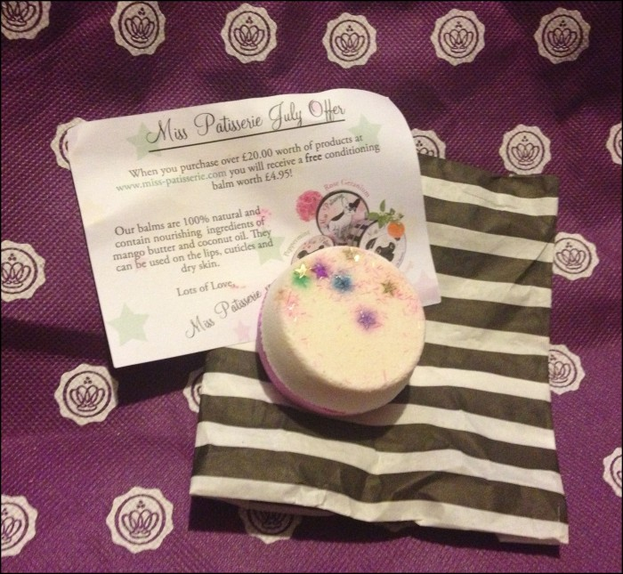 Miss Glossybox July Aug bath bomb