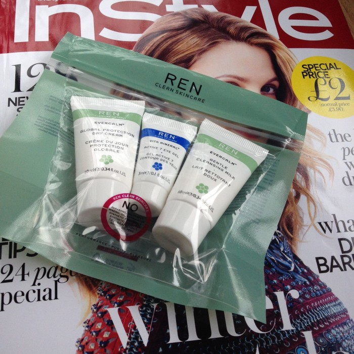 Ren skincare trio with Instyle