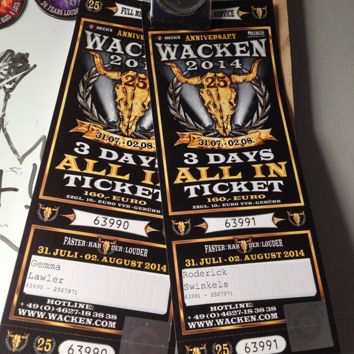 Wacken 2014 tickets