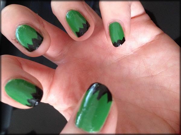 halloween frankenstein nail 3