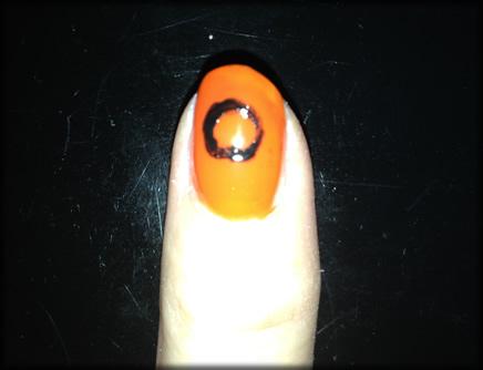 halloween pumpkin nail 6