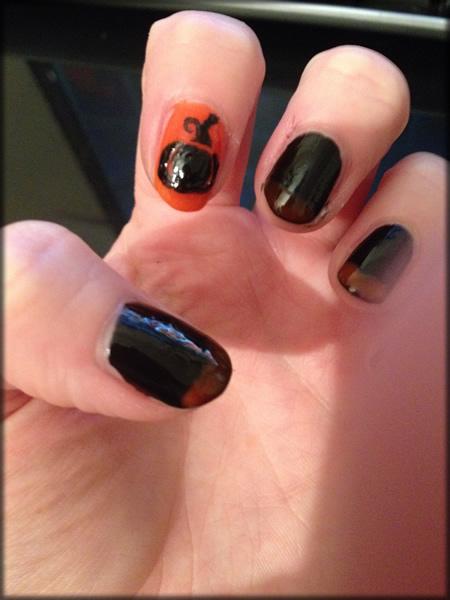 halloween pumpkin nail 7