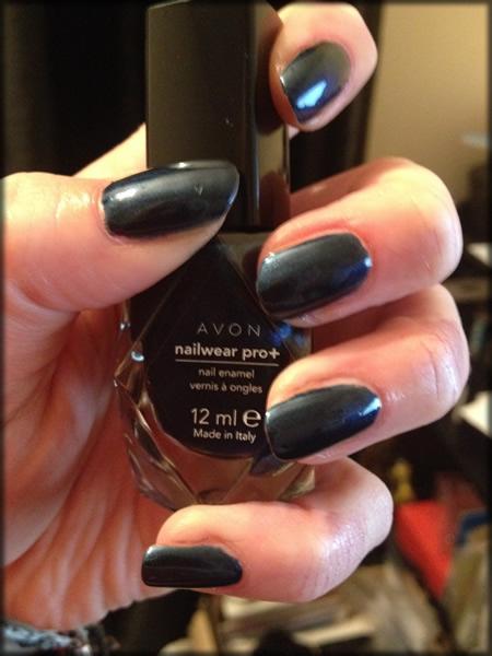 NOTD Avon diamon sparkle stunning cobalt 2
