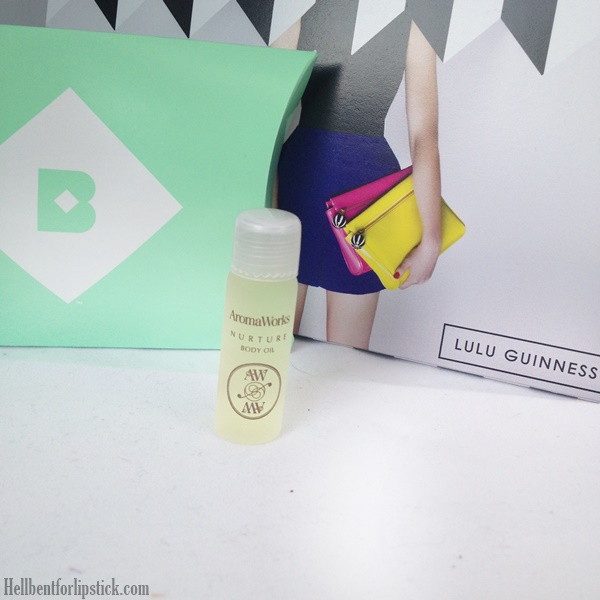 Birchbox March 2014 Review Aroma Works nurture body oil