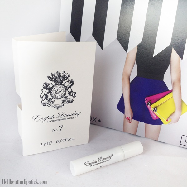 Birchbox march 2014 English Laundry no.7 for her