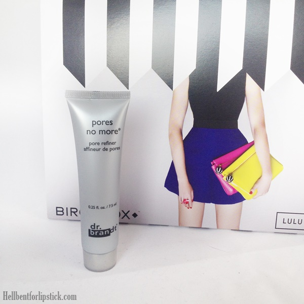 Birchbox March 2014 Review DR. Brandt Pores no more pore refiner