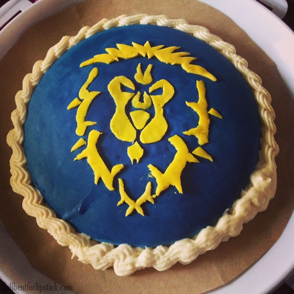World of Warcraft Alliance Birthday cake